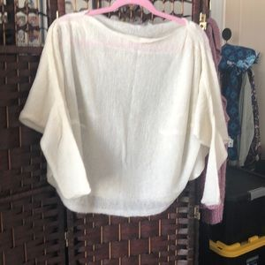 Off white shrug very cute. Layer soft/warm